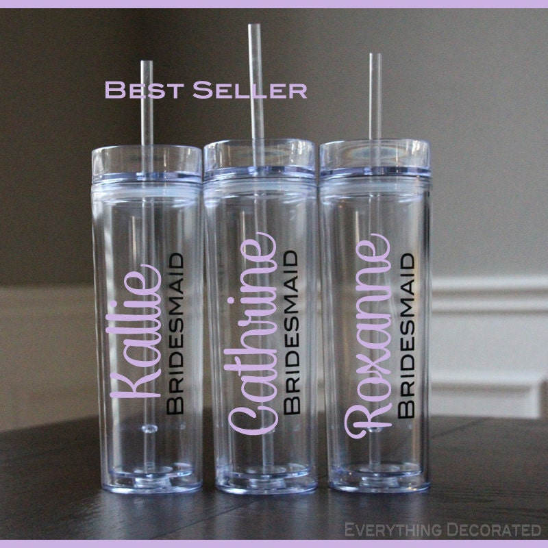Bridesmaid Gifts From Bride: Wedding Tumblers Bride Bridesmaid Gifts Bridal Luncheon