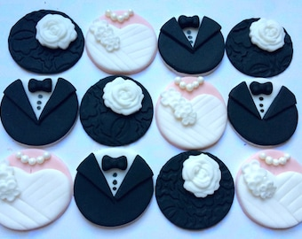 Bride and Groom Fondant Toppers