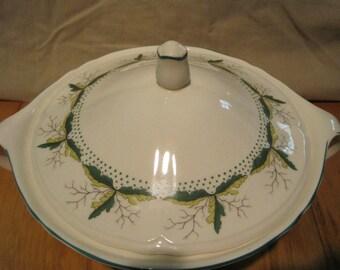 "Knowles Casserol Dish w/Lid ""Leaf Dance"" Pattern"