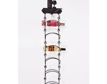 olde forge wall mounted cast iron wine rack