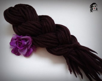 "Wool Dreadlocks Dreads "" Blackberry Power "" DE"