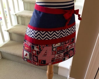 Team Inspired Custom Half Apron ~ Baseball ~ Football ~ Basketball ~ Hockey