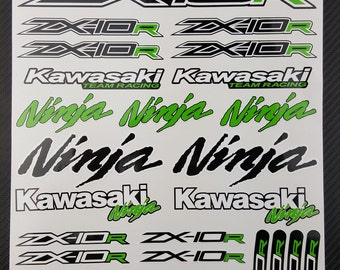 Motorcycle Graphics And Stickers By MADMOTOGraphics On Etsy - Kawasaki motorcycles stickers