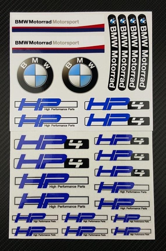 BMW Motorrad HP Decals Set X Sheet Stickers - Bmw motorrad motorsport decals