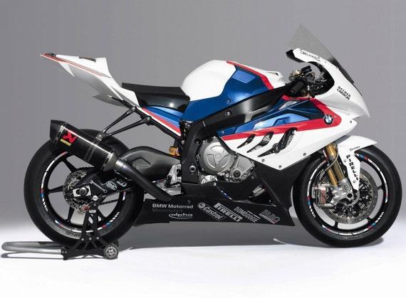BMW SRR Motorbike Wheel Rim Decal Stickers Set Laminated - Bmw motorrad motorsport decals