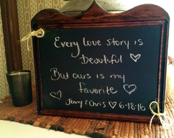 Wood Framed Chalkboard Sign
