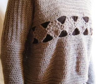 FREE SHIPPING#Handmade crochet sweater