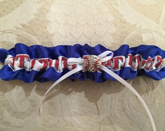 Texas Rangers baseball wedding garter