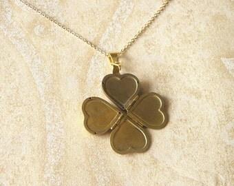 Heart Locket Necklace, locket necklaces, family locket necklace, clover locket, four photos locket