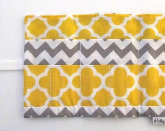 Travel First Aid Roll Kit - Grey & Yellow