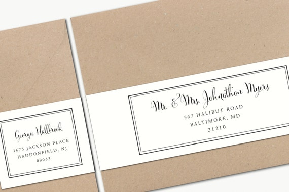 Effortless image pertaining to printable address labels wedding