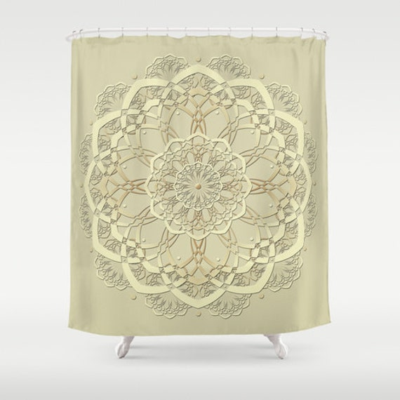 Pale Sage Green Shower Curtain Boho Shower By Designbyjuliabars