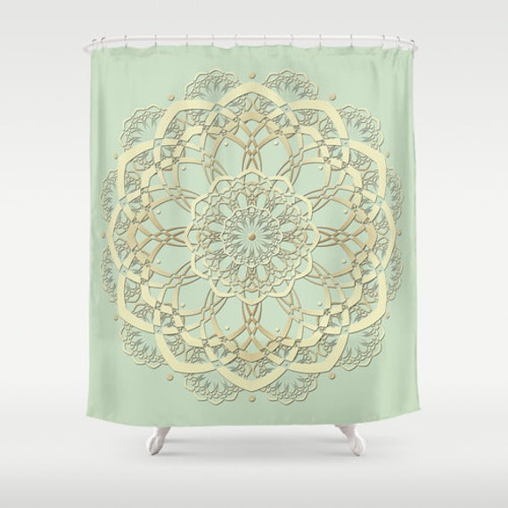mint shower curtain mint green decor green shower curtain bathroom