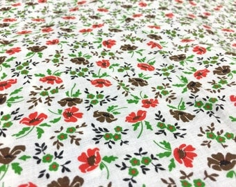 Vintage 60s fabric 50x70cm: flower