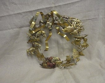 brass all season wreath