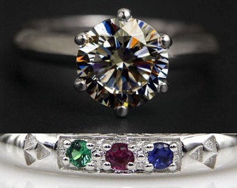 legend of zelda ocarina of time spiritual stones wedding band promise ring engagement ring 2 carat - Zelda Wedding Ring