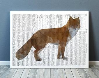 Animal poster Colorful decor Fox art Nursery print TO187-2