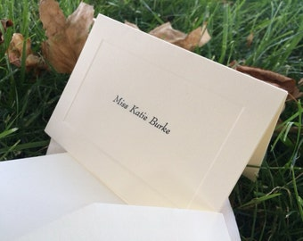 10 Personalized Notecards with Envelopes