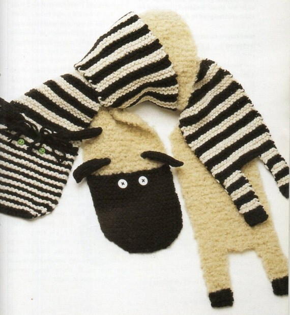 Zebra Scarf And Lamb Scarf Knitting Pattern Zoo by ...