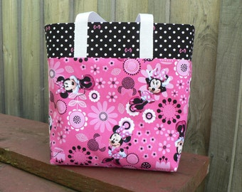 Girls Disney Minnie Mouse Tote Bag Library Bag Ladies Tote