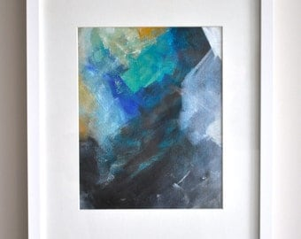 Small Original Abstract Painting | Framed Acrylic on Canvas