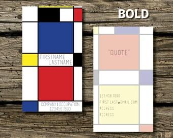 Mondrian Business Card