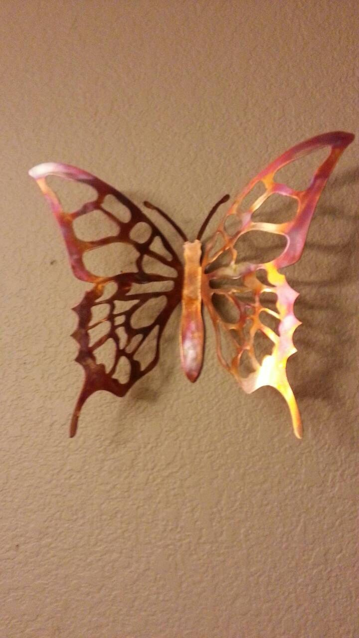 metal butterfly copper butterfly wall decor butterfly. Black Bedroom Furniture Sets. Home Design Ideas