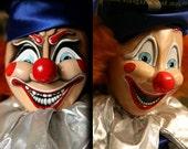 RARE! Unique Movie Prop Replica Poltergeist Clown TWO FACED Head Both Evil & Happy! Pre-Order!