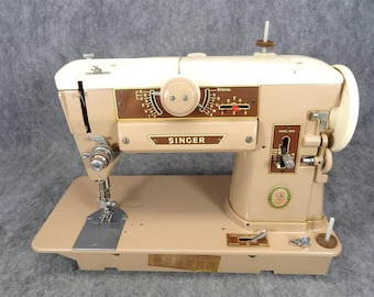 Singer Model 401A Sewing Machine with Foot Pedal and A/C Adapter