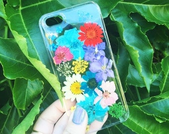 Dried Bright Colored Flowers Phone Case