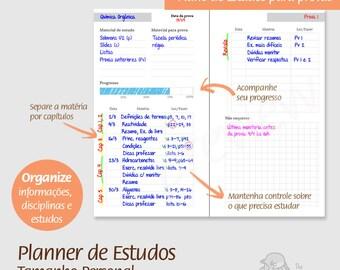 Personal - PT - Planner de Estudos - PDF, printable