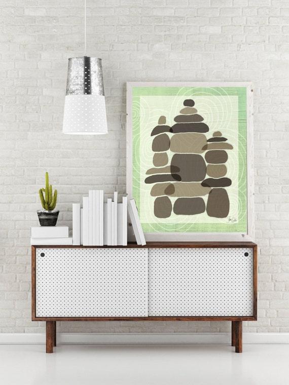 Zen Garden Art Print Zen Home Decor Zen Wall By Fatdragonfly