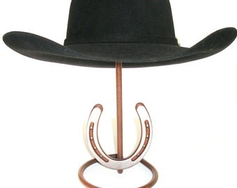 Cowboy Hat Stand with Genuine Horseshoe