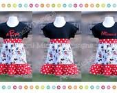 Minnie Mouse Dress, Minnie Mouse Outfit, mickey and minnie mouse dress, Disney trip outfit, minnie red dot, tshirt dress, minnie ruffles