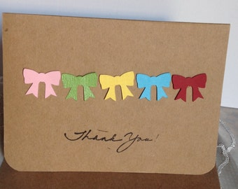 Baby Shower Thank You Cards, Baby Thank you cards, Kraft Thank you cards, Thank you Notes, Bulk thank you card sets.