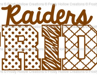 Raiders Pride cutting file SVG instant download PERSONAL USE only!