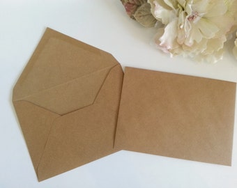 Mailer envelope box square rustic kraft 155cm square 5x7 kraft envelopes rustic recycle bufflo look approximately 13cm by 18cm hessian brown pure stopboris Images