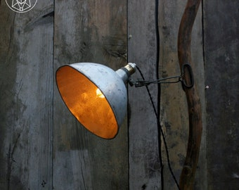 Clamp on Desk Lamp - Rustic Lamp - Vintage Light - Industrial light - Table Lamp - Hanging Lamp
