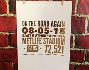 ONE DIRECTION Foil Tour Art - Custom One Direction Concert Tour Art
