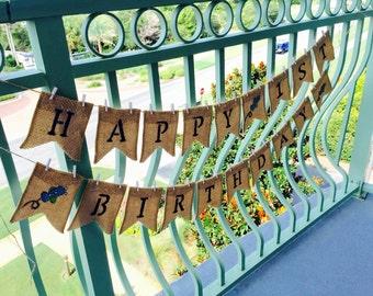 Custom Happy 1st Birthday Banner