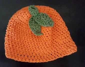 Baby Pumpkin Crochet Hat