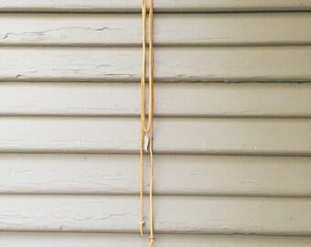Mustard Deerskin Leather Feather