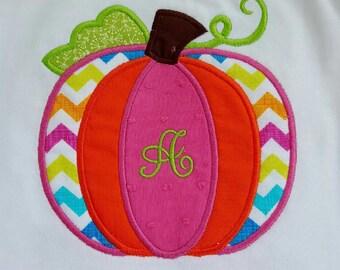 Chevron Pumpkin Girls Shirt!