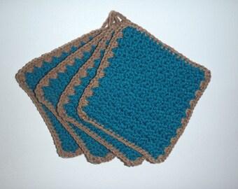 Hand made crochet pot holder hot pad