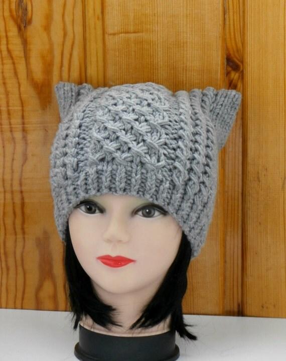 Вязание спицами шапки кошка видео