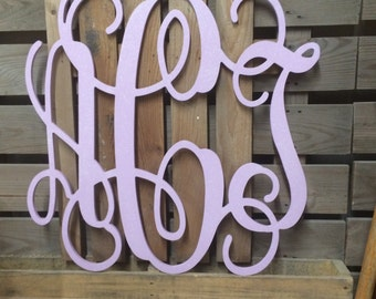 Kids and Babies Room - Wooden Monogram Wall Letters - Unpainted - Or add fee for painting -