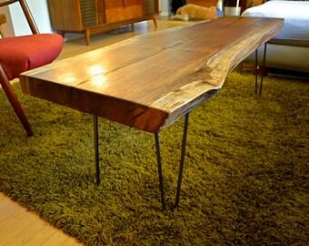 Rustic Black Walnut Table