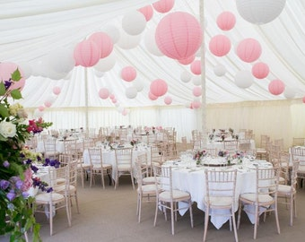 "Pkg of 10 - 12"" Paper Lantern for Wedding or Special Occasion Pinks, Purples & Reds"
