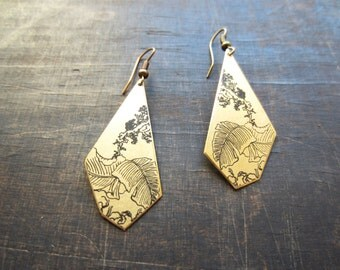Japan, square outline earrings