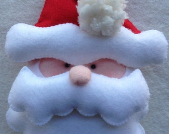 Felt Santa-Felt Christmas Ornaments- Christmas Decorations-Tree Ornament-Holiday Decoration